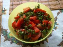 Sałatka z  rydzy i bakłażana Mariel