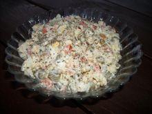 Sałatka z ryżem i grzybami