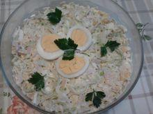 Sałatka z ryżem i porami