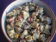 Sałatka z ryżem na ciepło