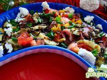 Sałatka z ryżu carpaccio i fety