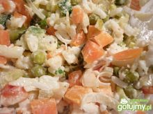 Sałatka z ryżu i warzyw