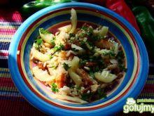 Sałatka z ryżu ,melona i sandacza