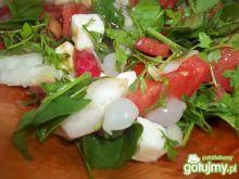 Sałatka z rzeżuchą i szpinakiem