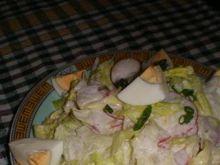 Sałatka z rzodkiewki, jajek i sałaty