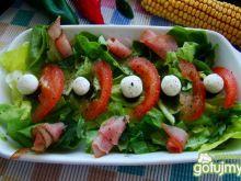 Sałatka z sałaty zielonej i koziego sera