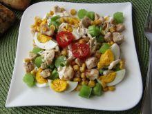 Sałatka z selerem naciowym i kurczakiem