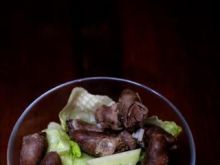 Sałatka z serduszkami drobiowymi