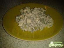 Sałatka z serem feta i pieczarkami2