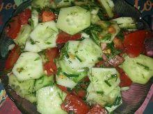 Sałatka z sosem do mizerii