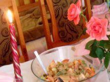 Sałatka z sosem musztardowym