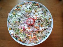 Sałatka z surimi i rzodkiewkami