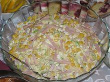 Sałatka z szynka i porą