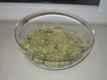 Sałatka z szynką parmeńską i pieczoną cukinią