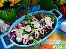 Sałatka z szynki i jajek przepiórczych