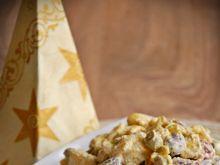 Sałatka z tortellini, kurczakiem i fasolką