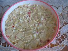 Sałatka z użyciem makaronu łazanki