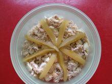 Sałatka z wędzonej makreli