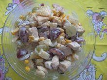sałatka z winogron i kurczaka