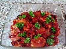 Sałatka ziemniaczana z duszonych warzyw