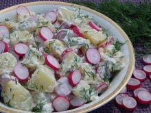 Sałatka ziemniaczana z rzodkiewką i koperkiem