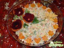 Sałatka  ziemniaczano  sledziowa