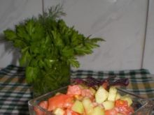 Salsa z pomidorów i ogórków