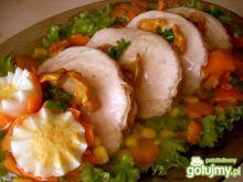 Schab w galarecie z kurkami i sałatką