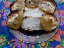 Schab w marynacie z melasą pieczony z jabłkami