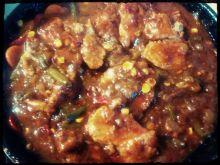Schab w sosie barbecue (bbq)