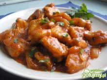 Schab w sosie piwno-pomidorowym