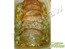 Schab w sosie porowo-gorgonzolowym