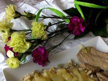 Schab w sosie własnym z kaszą pęczak