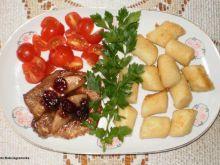 Schab z karmelizowaną w miodzie gruszką