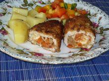 Schab z papryką, cebulką i serem