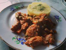 Schab z warzywami
