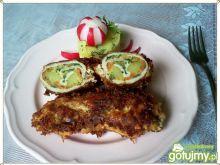 Schab z warzywami i rabarbarem