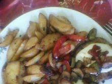 schab z warzywną pierzyną i serem