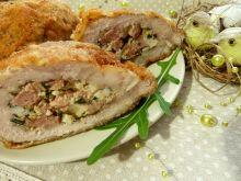 Schabowe kieszonki z jajkiem, kiełbasą i chrzanem