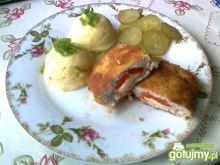 Schabowe kieszonki z serem i papryką