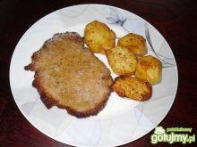 Schabowe z pieczonymi ziemniakami
