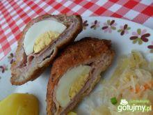 Schabowy z szynką i jajkiem