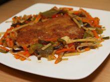 Schabowy z warzywami i grzybkami moon