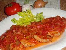 Schab w sosie selerowo-pomidorowym
