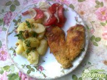 Serce z kurczaka z ziemniakami i sałatką