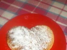 Serduszkowe pancakes z jabłkami