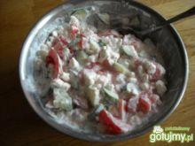 Serek wiejski  z ziarenkami  na kolację