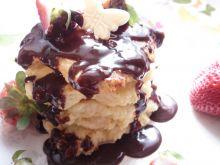 Serniczki z patelni z polewą czekoladową