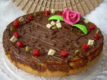 Sernik alzacki z polewą czekoladową