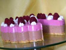 Sernik czekoladowo-malinowy na zimno